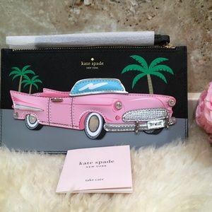 Kate Spade Novelty Pink Cadillac Clutch/ Wristlet